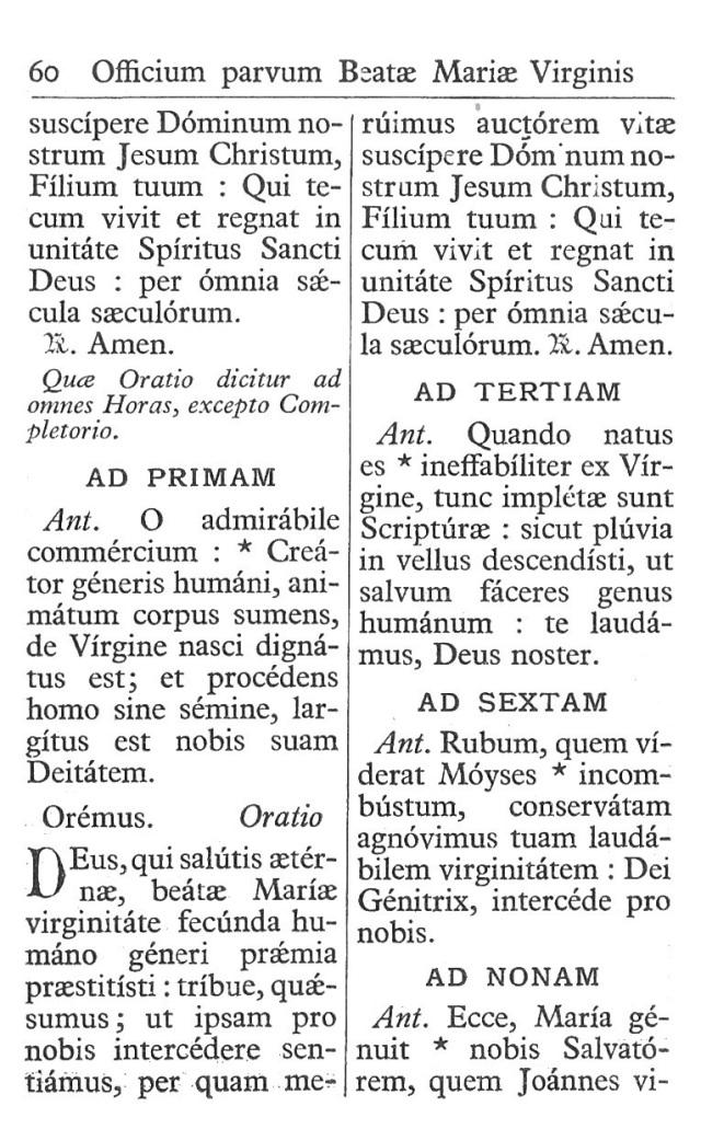 Officium Parvum B. Mariae Virg. 60