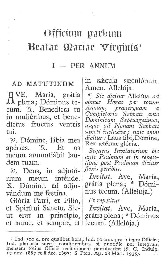 Officium Parvum B. Mariae Virg. 7