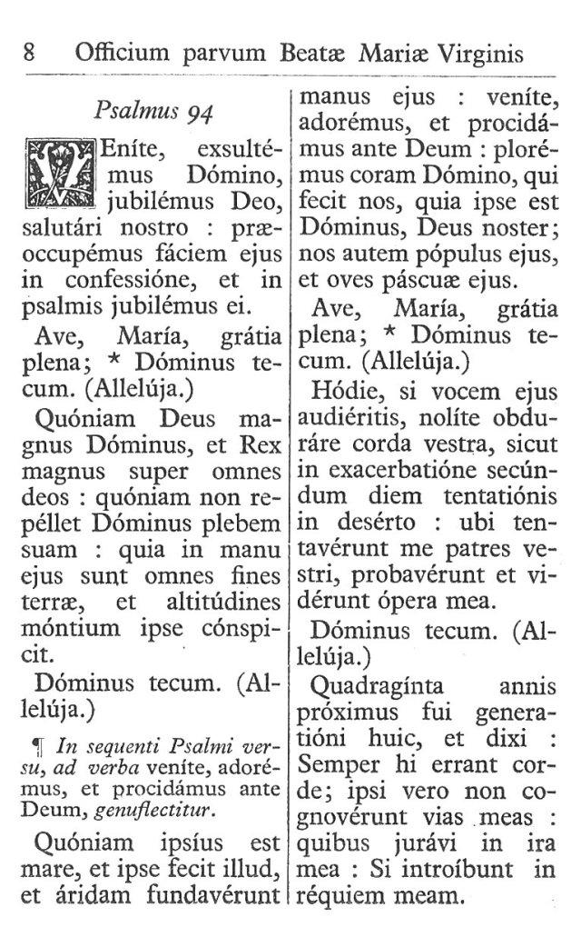 Officium Parvum B. Mariae Virg. 8