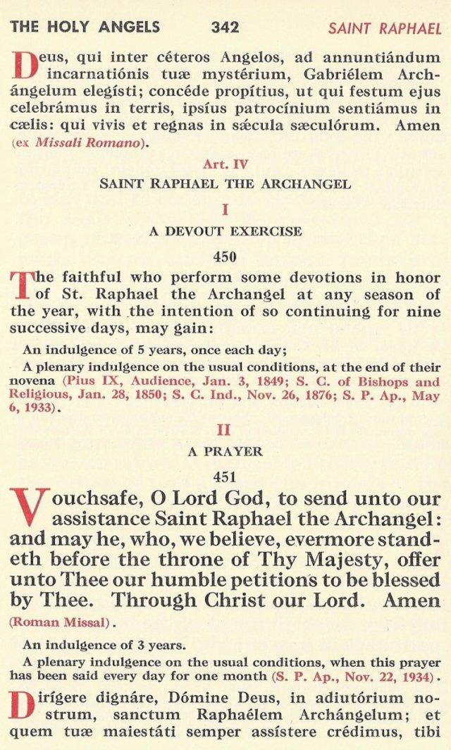 St. Raphael Raccolta 1