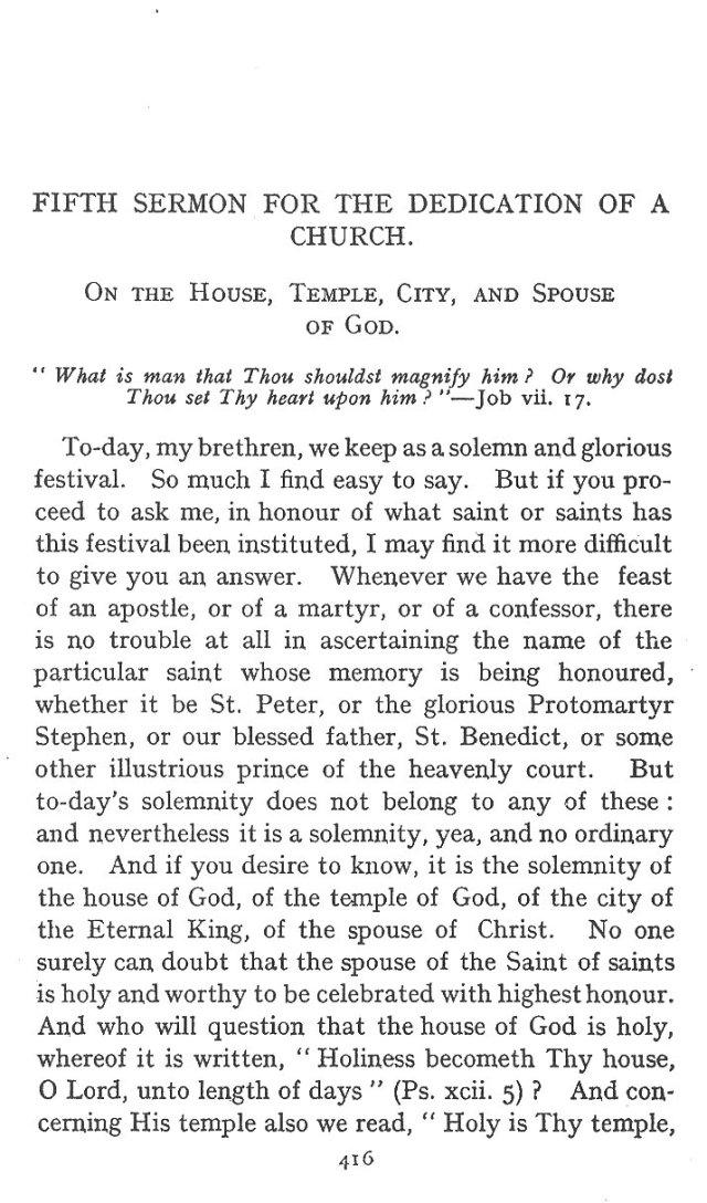 5th Sermon for Dedication of Church 1