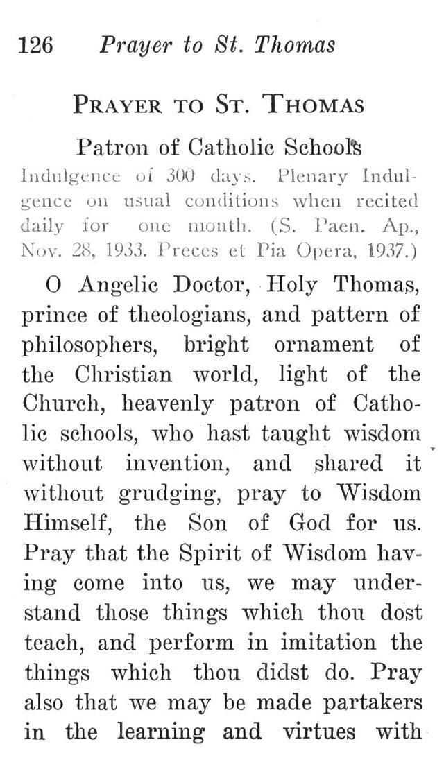 Prayer to Thomas, Patron of Catholic Schools 1