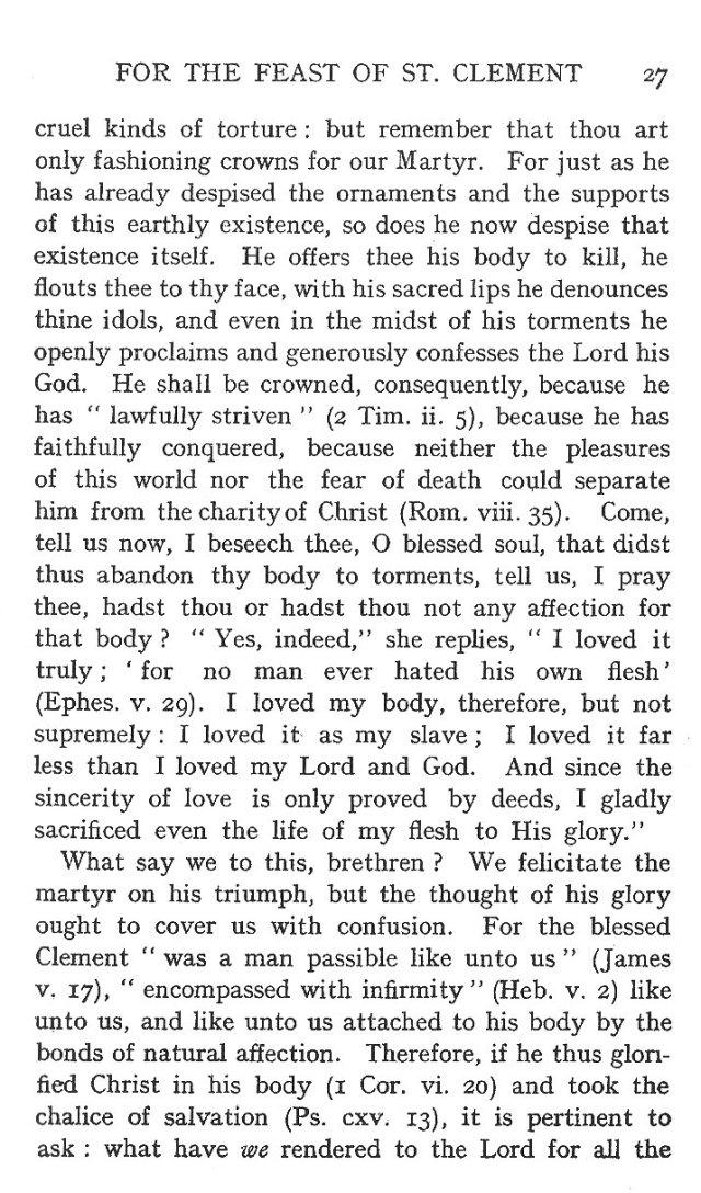 Sermon Feast St. Clement 3