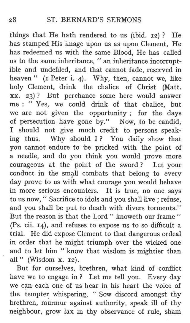 Sermon Feast St. Clement 4