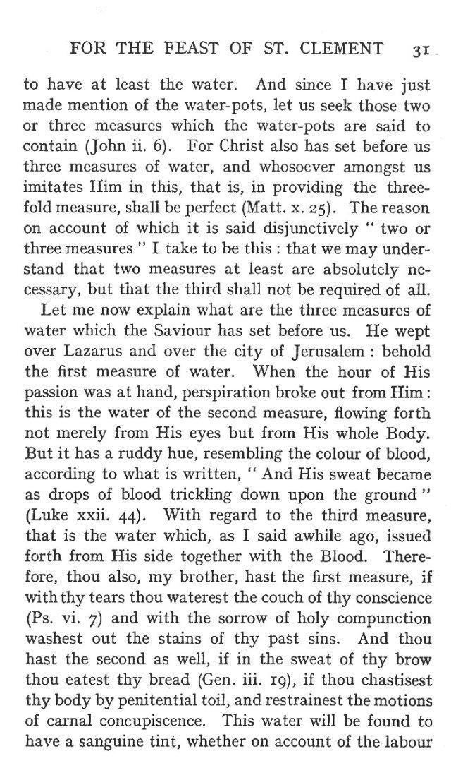 Sermon Feast St. Clement 7