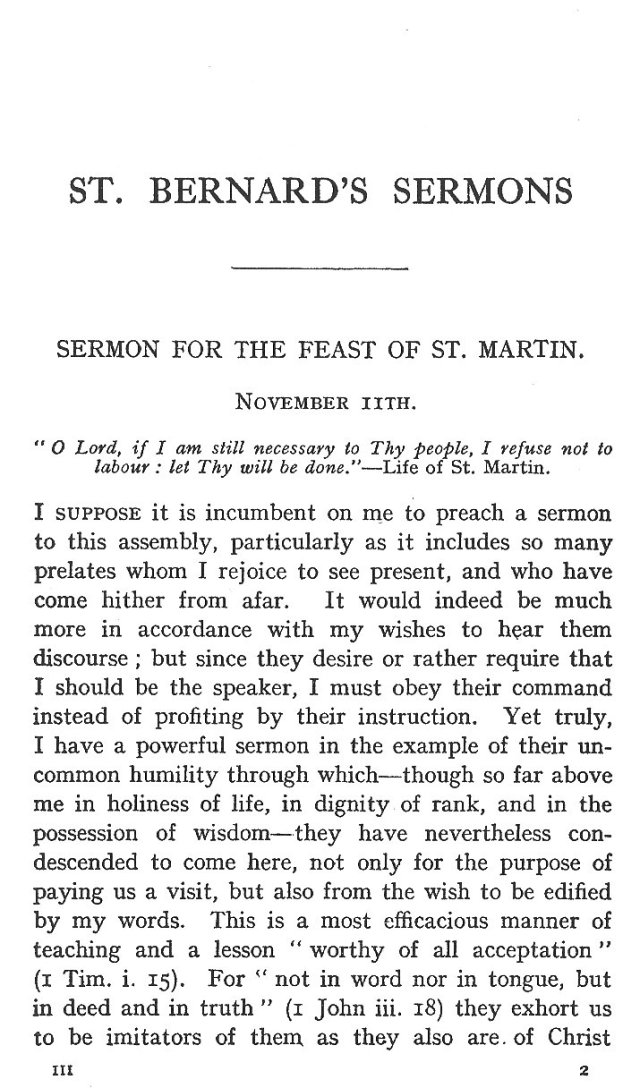 Sermon Feast St. Martin 1