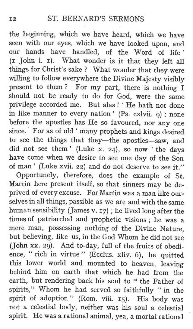 Sermon Feast St. Martin 12
