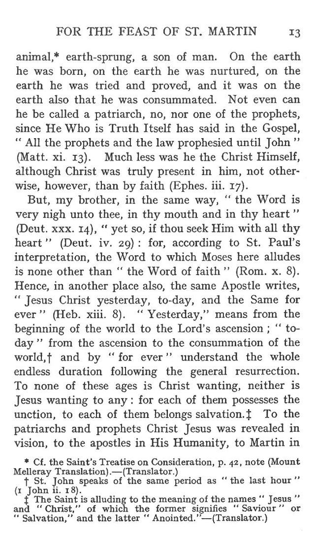 Sermon Feast St. Martin 13