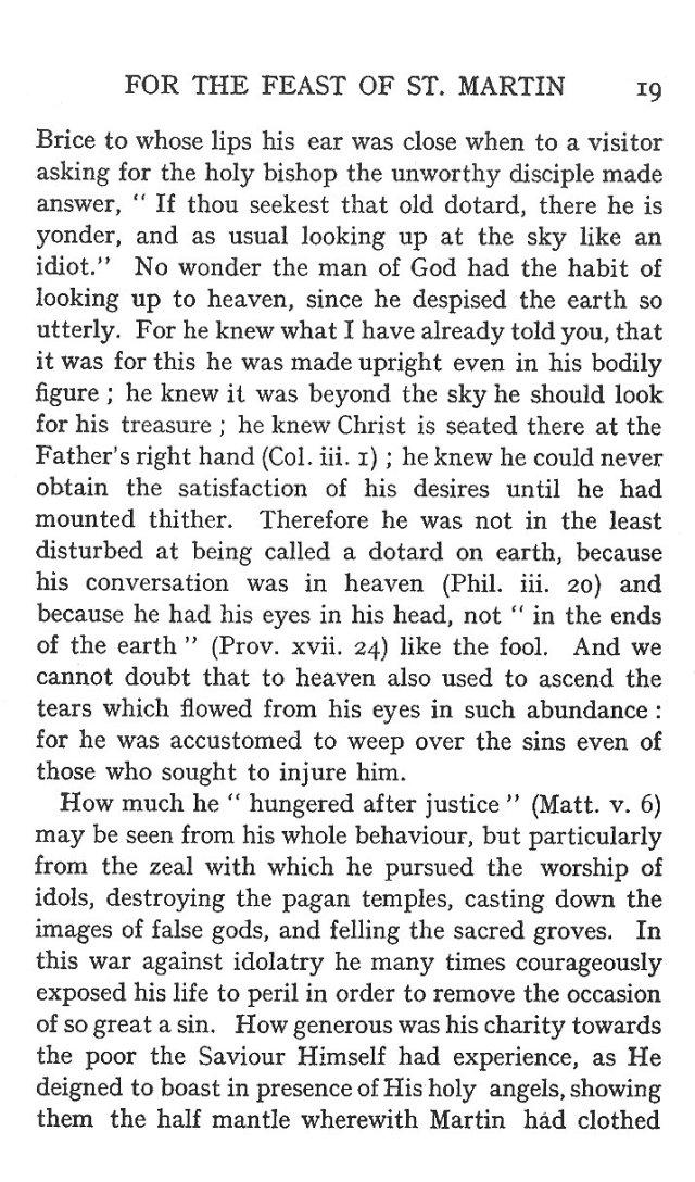 Sermon Feast St. Martin 19