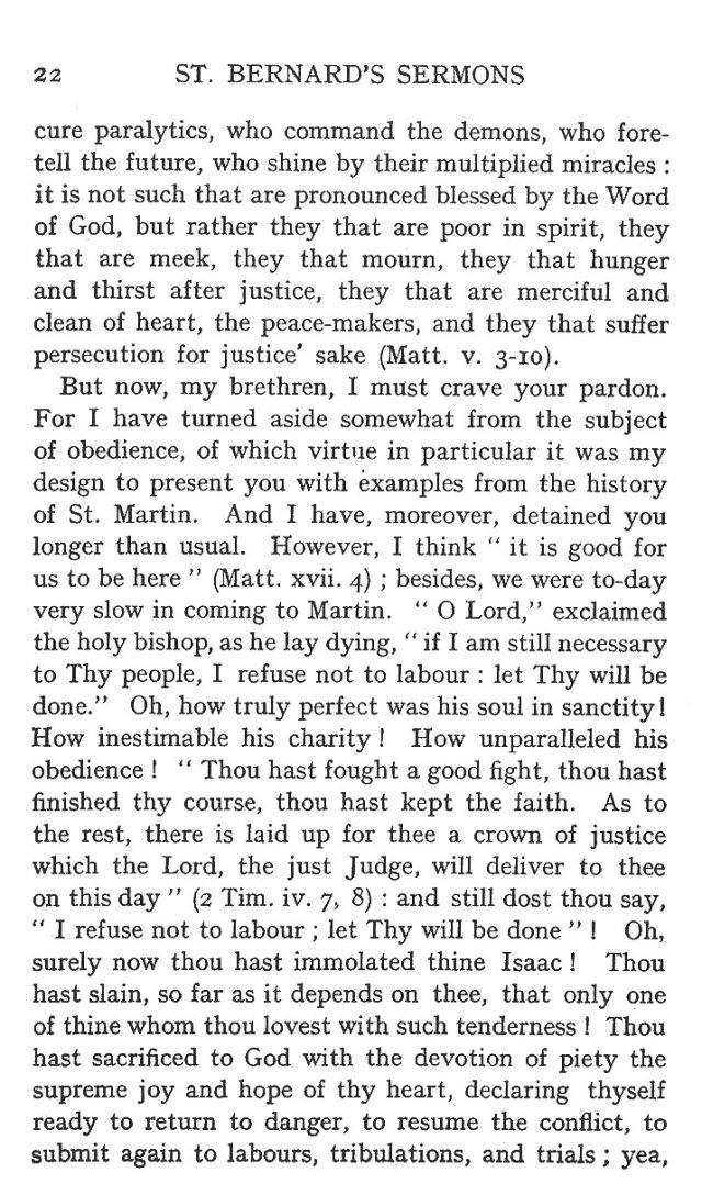 Sermon Feast St. Martin 22