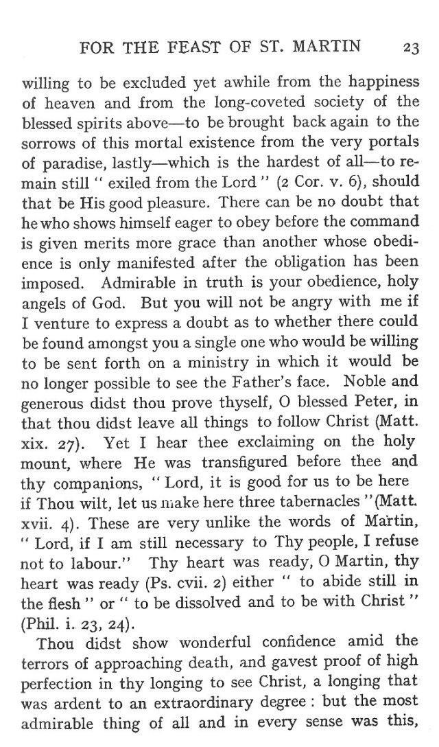 Sermon Feast St. Martin 23