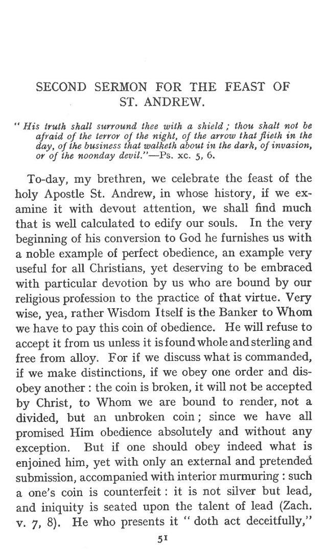 2nd Sermon St. Andrew 1