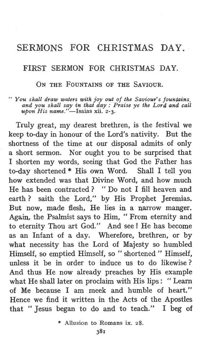First Sermon Christmas Day 1