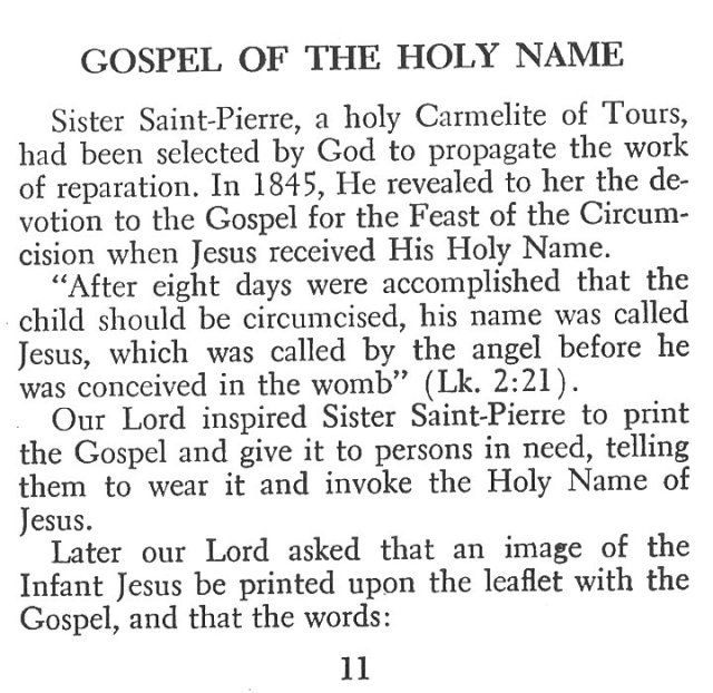 Gospel of the Holy Name 1