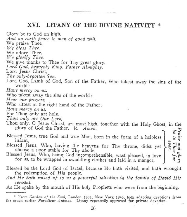 Litany of Divine Nativity 1