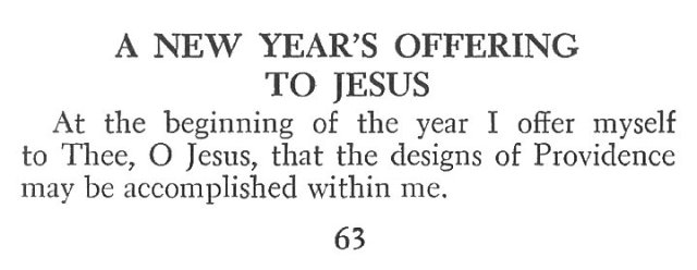 New Year's Offering to Jesus 1