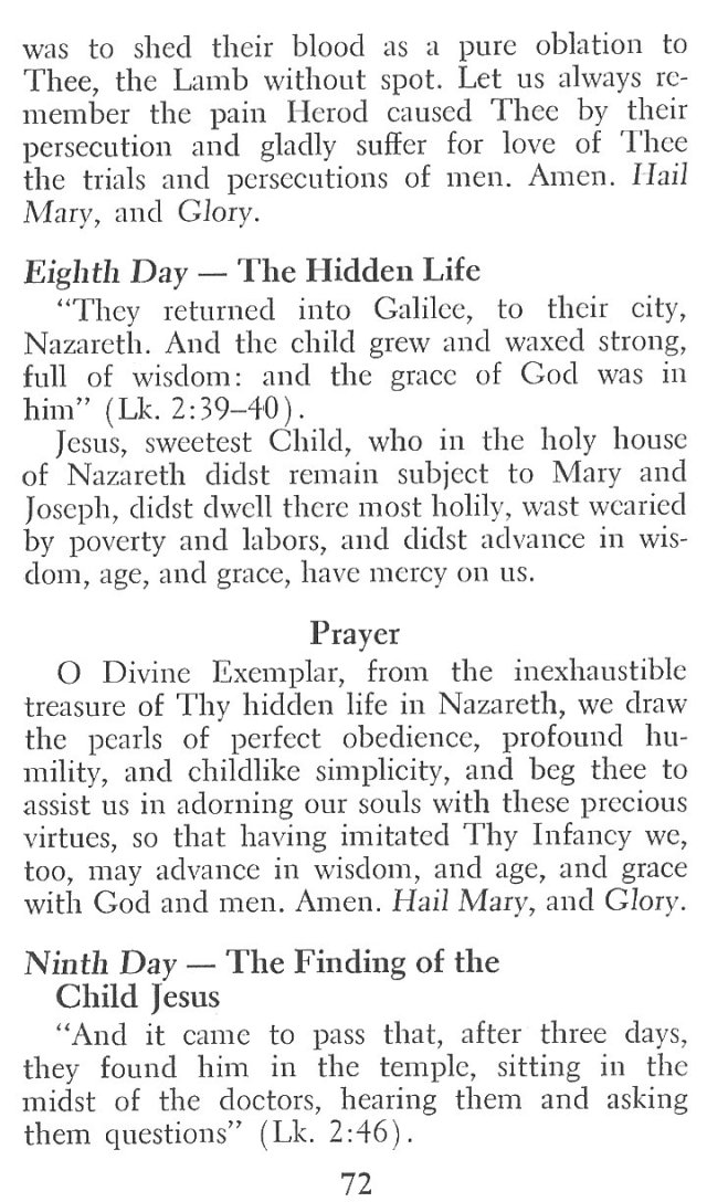Novena to Infant of Prague 7