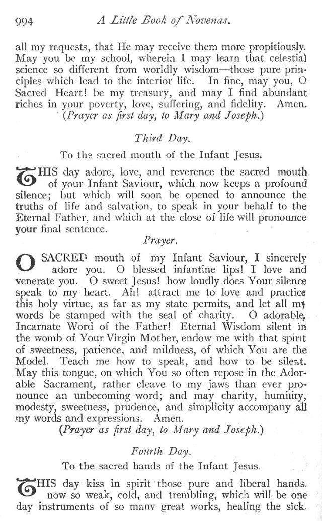 Novena to the Holy Child Jesus 3
