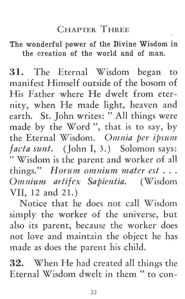 Power of Divine Wisdom in Creation 1