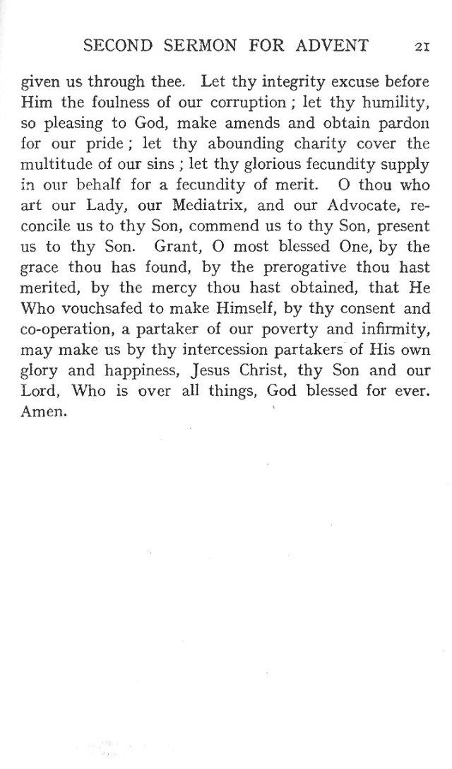 Second Sermon Advent 7