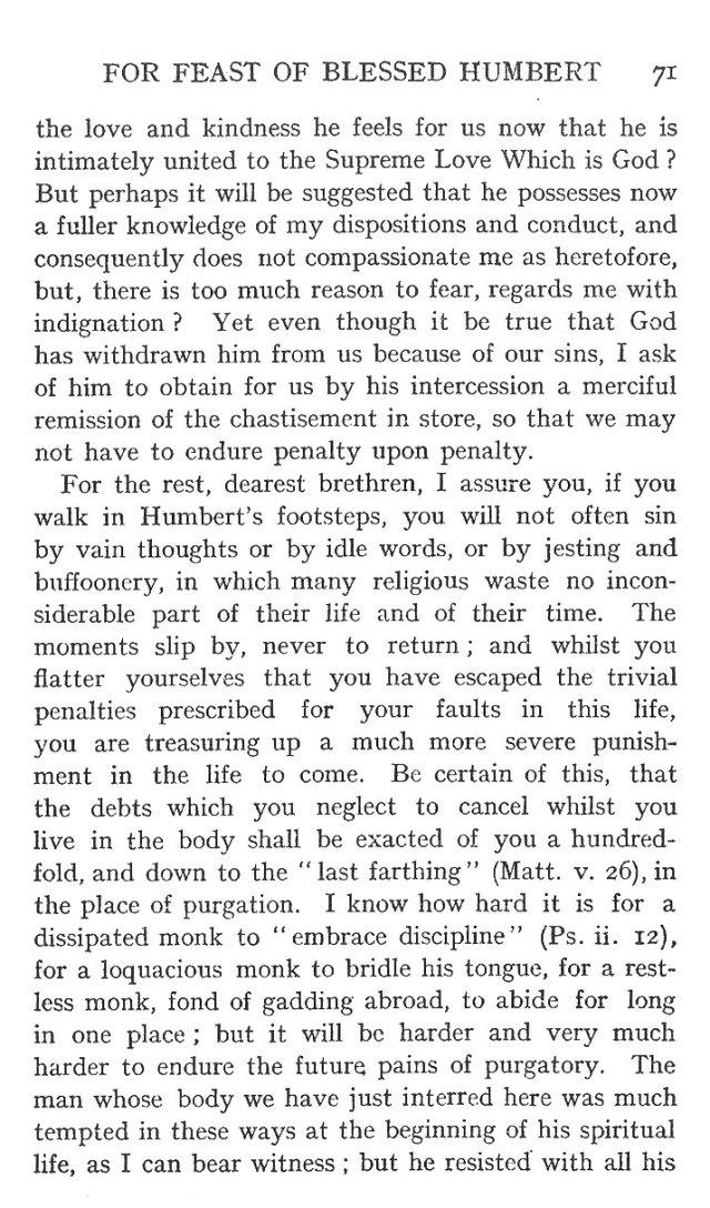 Sermon St. Humbert 11