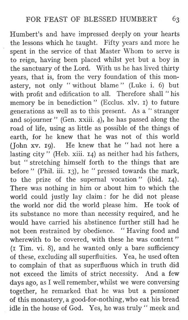 Sermon St. Humbert 3