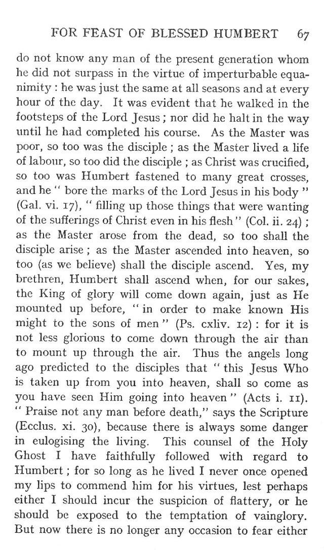 Sermon St. Humbert 7