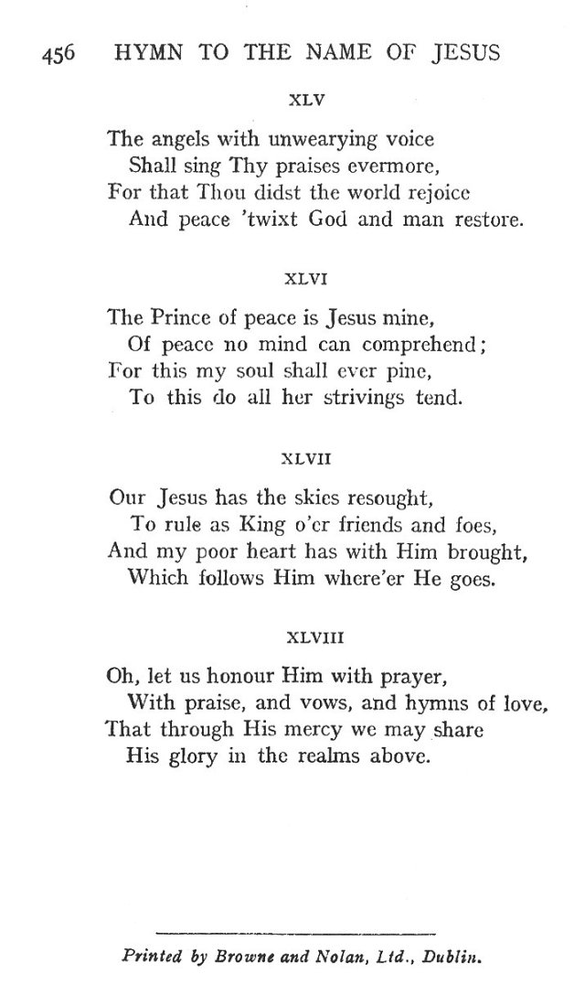 St. Bernard's Hymn Holy Name 10