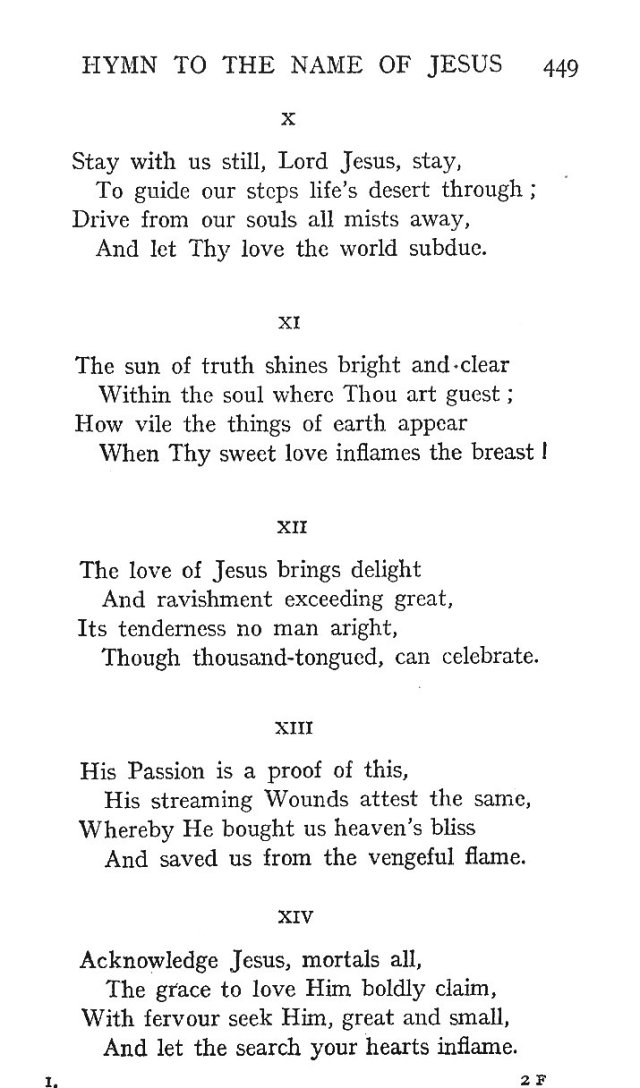 St. Bernard's Hymn Holy Name 3
