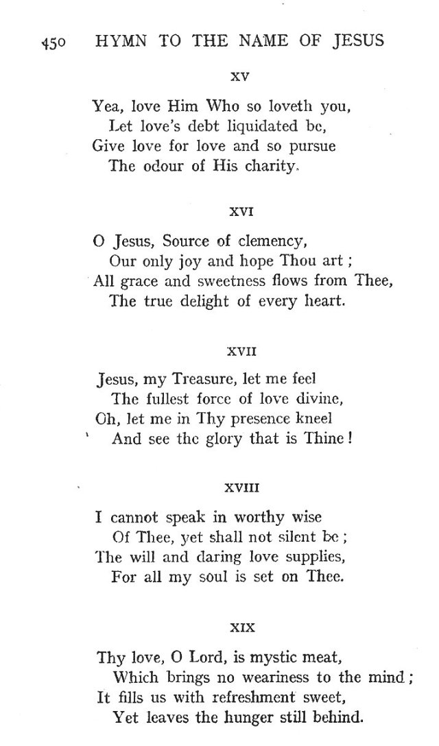St. Bernard's Hymn Holy Name 4