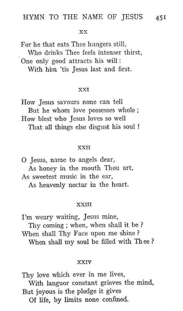 St. Bernard's Hymn Holy Name 5