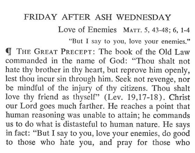 Ash Friday Breviary Meditations 1