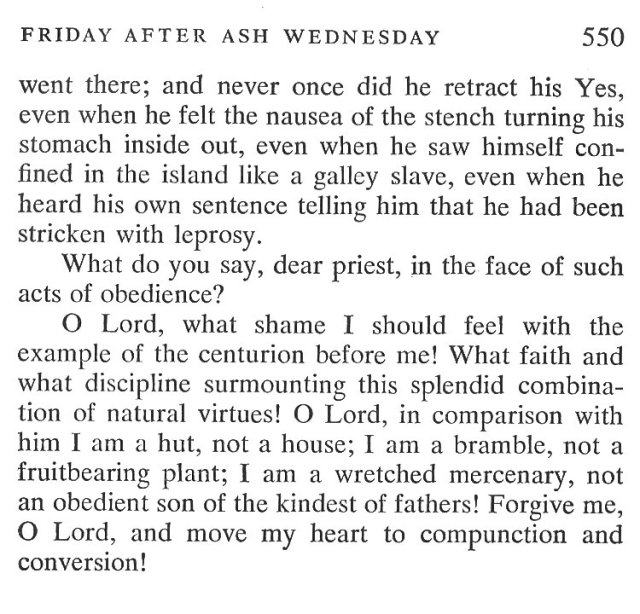 Ash Thursday Breviary Meditations 6
