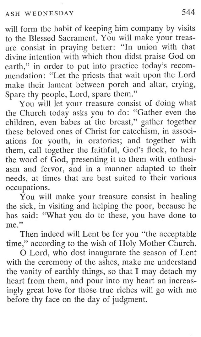 Ash Wednesday Breviary Meditations 6