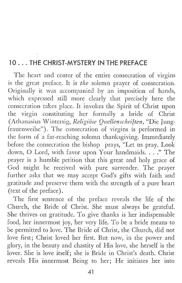 Christ in His Consecrated Virgins - Christ-Mystery in Preface 1
