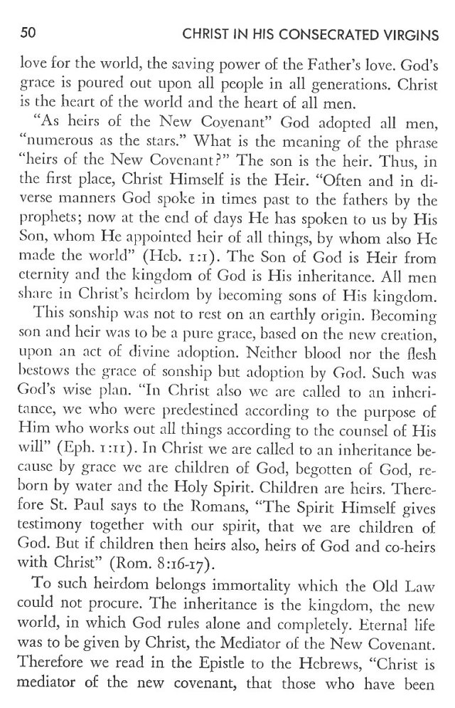 Christ in His Consecrated Virgins - Christ-Mystery in Preface 10
