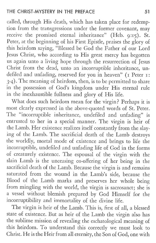 Christ in His Consecrated Virgins - Christ-Mystery in Preface 11