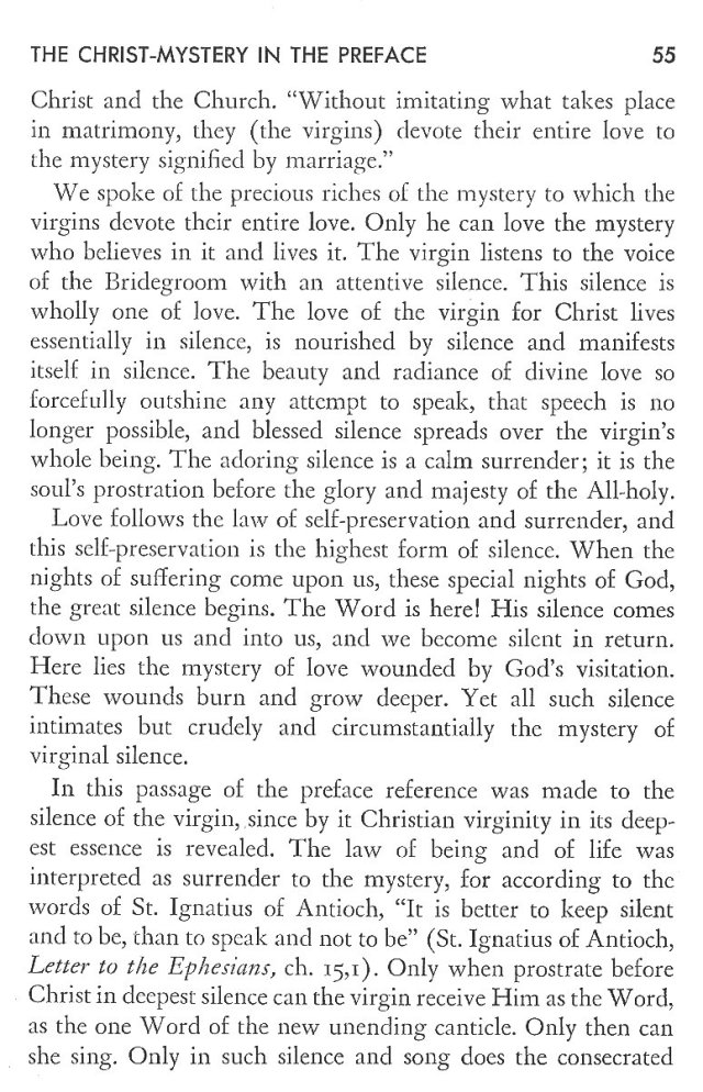 Christ in His Consecrated Virgins - Christ-Mystery in Preface 15