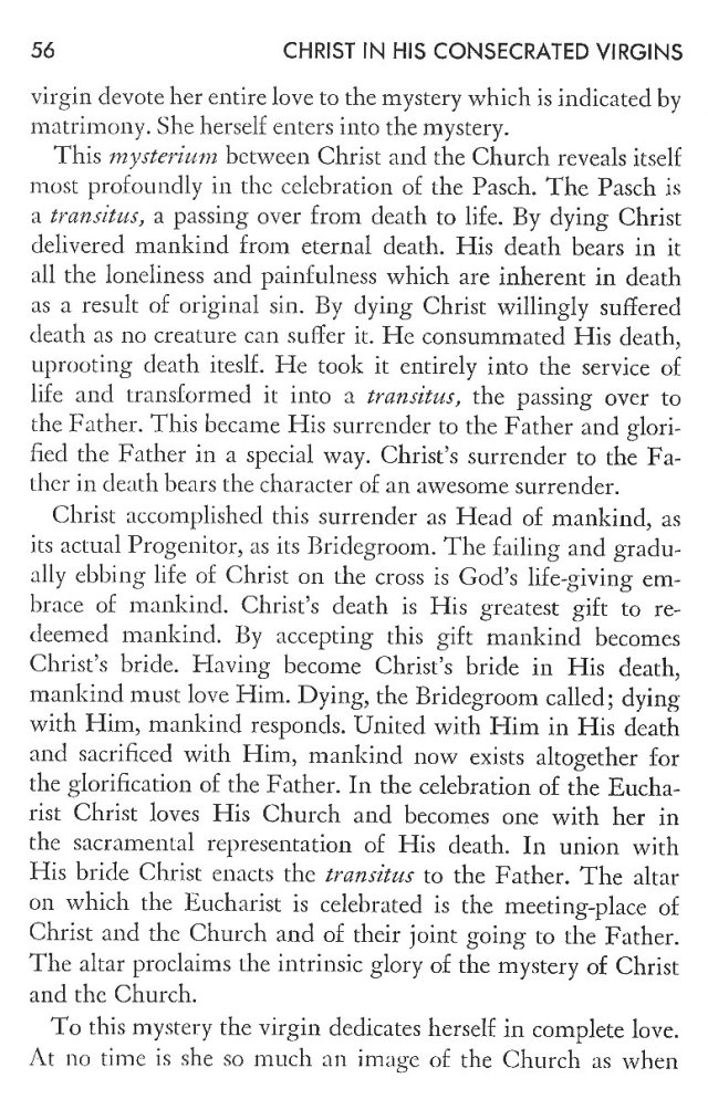 Christ in His Consecrated Virgins - Christ-Mystery in Preface 16