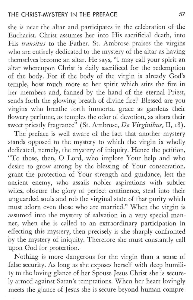 Christ in His Consecrated Virgins - Christ-Mystery in Preface 17