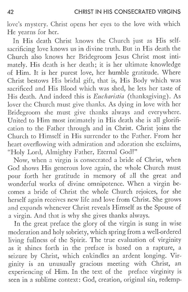 Christ in His Consecrated Virgins - Christ-Mystery in Preface 2