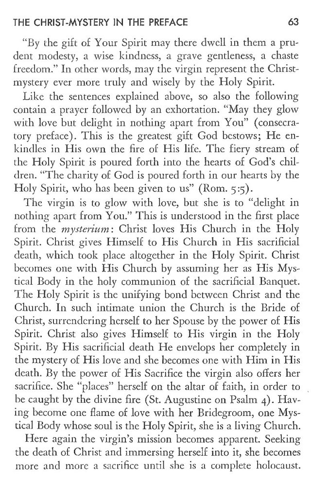 Christ in His Consecrated Virgins - Christ-Mystery in Preface 23