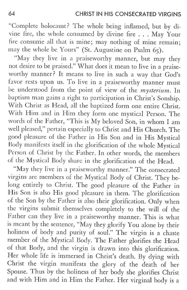 Christ in His Consecrated Virgins - Christ-Mystery in Preface 24