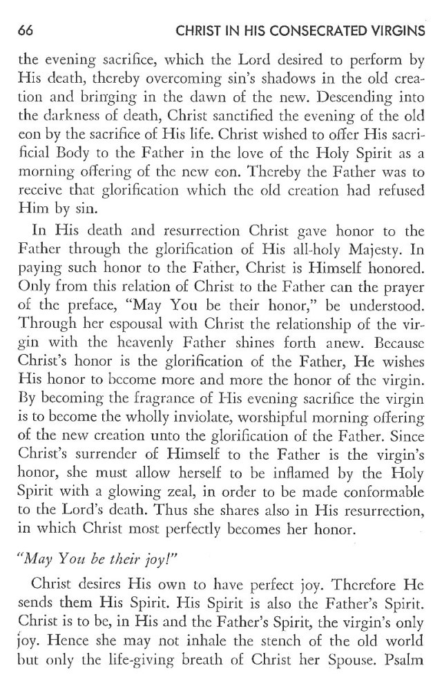 Christ in His Consecrated Virgins - Christ-Mystery in Preface 26