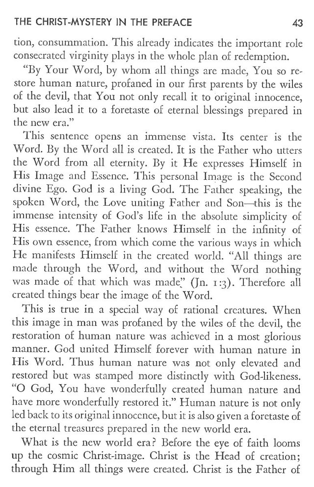 Christ in His Consecrated Virgins - Christ-Mystery in Preface 3