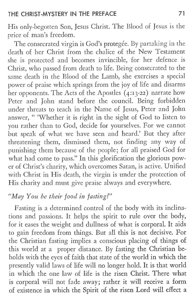 Christ in His Consecrated Virgins - Christ-Mystery in Preface 31
