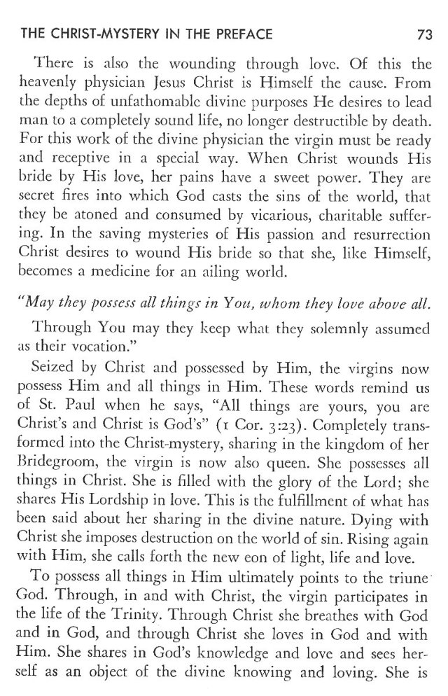 Christ in His Consecrated Virgins - Christ-Mystery in Preface 33