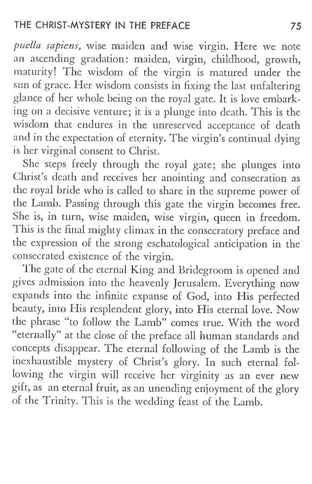 Christ in His Consecrated Virgins - Christ-Mystery in Preface 35