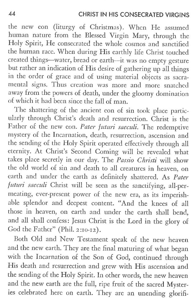 Christ in His Consecrated Virgins - Christ-Mystery in Preface 4