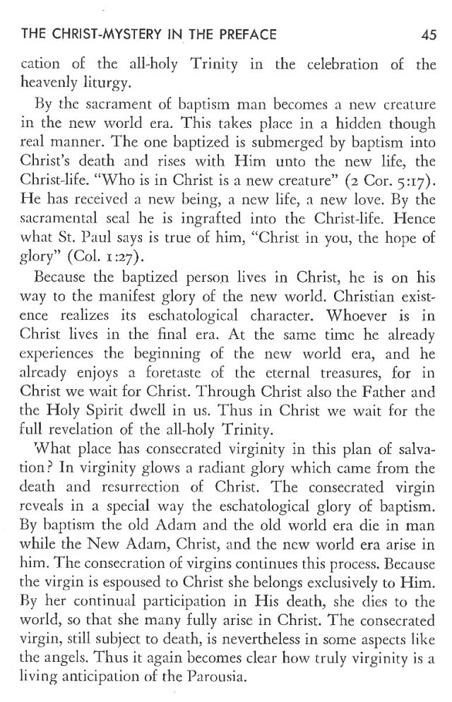 Christ in His Consecrated Virgins - Christ-Mystery in Preface 5